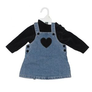 The Children's Place Size 6-9 Months Overall Dress
